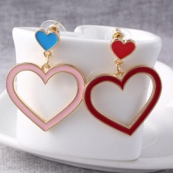 Heart shaped long earrings