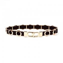 elastic waist women's circle metal chain belt - fashion elegant jewelry gold belt for woman dress