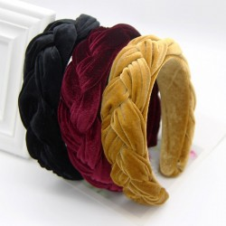 Elegant braided velvet headband - hair band