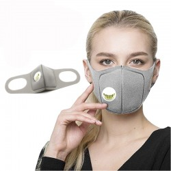 Sponge mouth masks - with air valve - anti-dust & pollution - 2 pieces