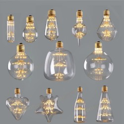 E27 - E26 - 3W - 2200K - LED - starry sky - vintage decorative Christmas bulb - dimmable
