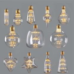 ST64 G95 A60 Starry Sky Dimmable led Bulb 3W 2200K E27 220V Wine Bottle Decorative Christmas Firewor