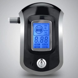 professional digital breath alcohol tester - breathalyzer with LCD dispaly with 5 mouthpieces