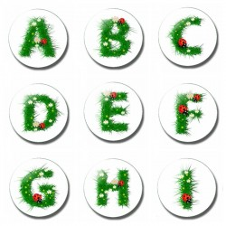 26 Letter 30 MM Fridge Magnet Child Letter Magnet Cartoon Kids Gifts Glass Magnetic Refrigerator Sti