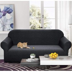 Meijuner Sofa Cover Waterproof Solid Color High Stretch Slipcover All-inclusive Elastic Couch Cover