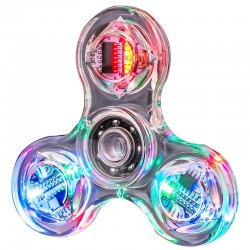 Creative LED Light Luminous Fidget Spinner Transparent Pattern Changes Hand Spinner Golw in the Dark