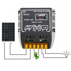 20A 12V/24V solar panel charge controller