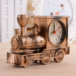 Vintage Retro Clock - Train/Motorcycle