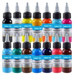 30ml Natural plant tattoo inks - 14 colors