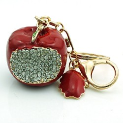Bitten apple key chain