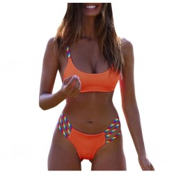 Rainbow colour straps - bikini - 2 piece