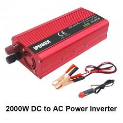 Dual USB 2000W DC 12V to AC 220V - car power inverter - charger - converter adapter - modified sine wave