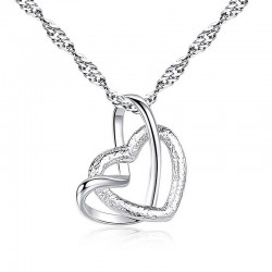 Heart shaped pendant - stainless steel necklace - 23 types