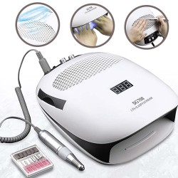 3 in 1 - Nail dust vacuum cleaner - UV lamp - nail drill