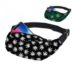 Weed fanny pack - green - white - unisex