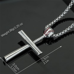 Baseball cross necklace - stainless steel - gold - silver - black - unisex