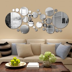 30Pcs - Mirror wall sticker - wallpaper - home decor