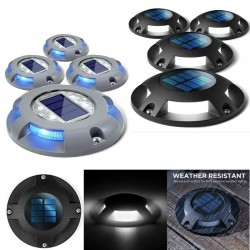 1 - 4 pieces - 4 LED - solar lamp - driveway light - waterproof