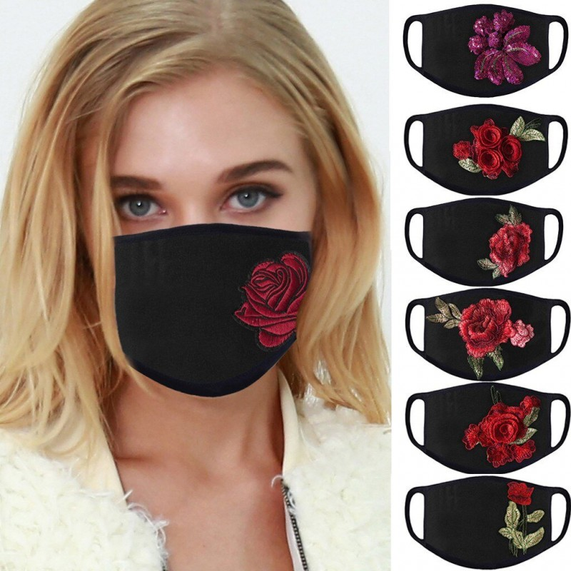PM2.5 - anti- dust & pollution - face / mouth protective mask - washable - roses print