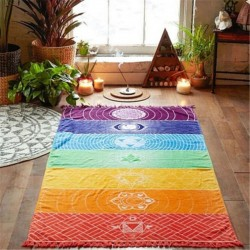 Rainbow Chakra - Wall Hanging Towel - Blanket
