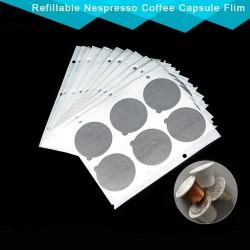 Nespresso Coffee capsule stickers - self adhesive aluminum foil lid