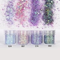 Mermaid Scale - Hexagon Glitter - Bling Filling - Resin Craft - 4pcs