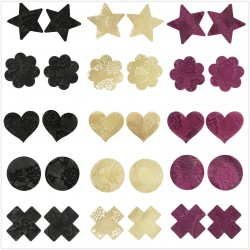 10pairs - Lace - Nipple Covers - Star - Circle - Heart