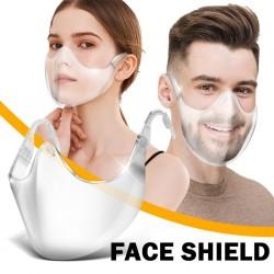 Anti-pm2.5 - Protective Mask - Transparent - Face Shield - Reusable
