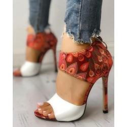 Thin Heeled - Sandals - High Heels - White