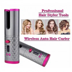 Cordless - Auto Rotating - Ceramic - Hair Curler - USB - Adjustable Wave Curl