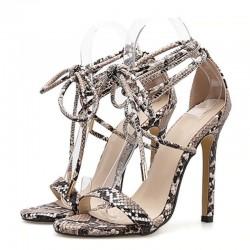 Summer - Women's Sandals - PU - Lace-Up - High Heels