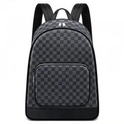 Plaid design backpack - USB charging port - waterproof