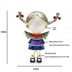 Eating Watermelon Girl - Brooches