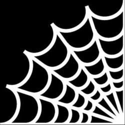 Cartoon spider web - car sticker