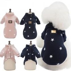 Star pattern - warm dogs / cats vest