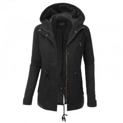 Warm hooded jacket - women