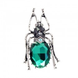 Green crystal beetle - brooch