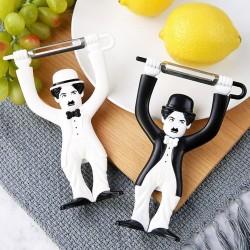Charlie Chaplin - fruit / vegetable peeler - stainless steel