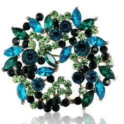 Crystal flowers - brooch