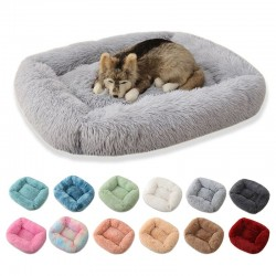 Square pet bed - plush sleeping mat - dogs - cats