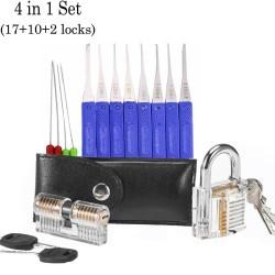 Transparent locksmith set - locks - picks - keys