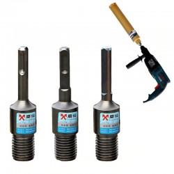 Diamond core bit - electric drill adapter - SDS Plus M22 - round - square - triangle
