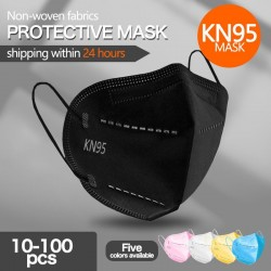 KN95 / FFP2 - protective mouth / face mask - five-layer - antibacterial - reusable - 10 - 100 pieces
