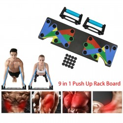 9 in 1 - push ups rack - folding board - trainer for abdominales / chest / muscle