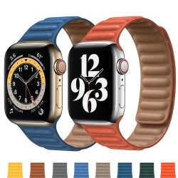 Apple watch - silicone / leather magnetic strap - 38mm - 42mm