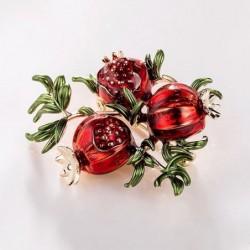 Pomegranate - crystal brooch