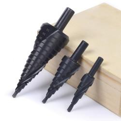 HSS cobalt step drills - nitrogen spiral - 4-32mm / 4-20mm / 4-12mm