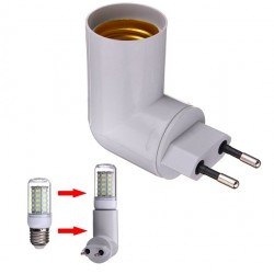 E27 Base socket EU-plug with built-in switch
