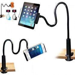 Flexible phone holder - adjustable - with 360 degree clip - 75cm