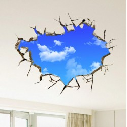 3D blue sky - wall & ceiling sticker 50 * 70 cm